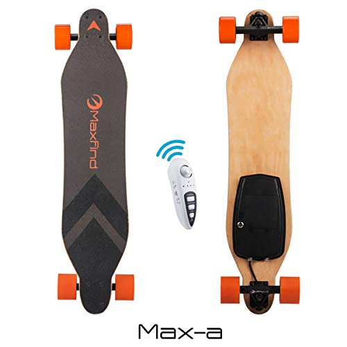 "Maxfind Electric Longboard Skateboard 18.6 mph 1000 w Motor 38"" Electric Skateboard with Remote (maxa)"