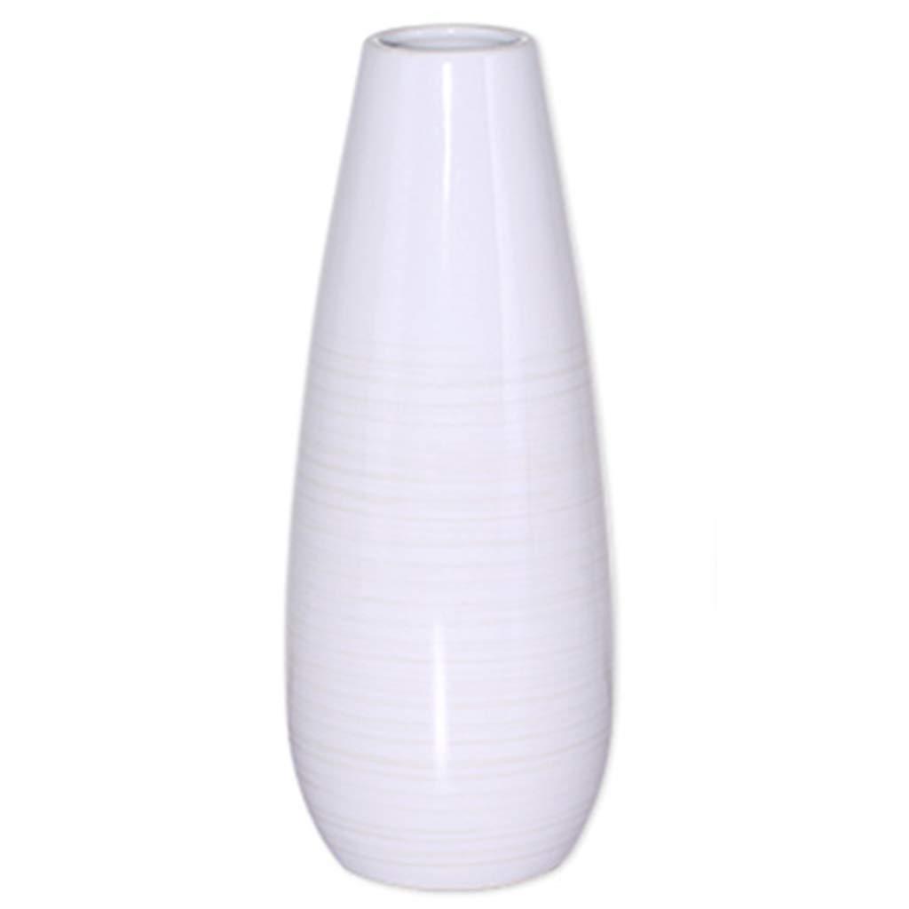 花瓶コンテナセラミックジュエリー新しい中国の花瓶フラワーアレンジメントリビングルームのテーブルデコレーションコーヒーテーブルの寝室シミュレーション偽の花のバスルーム (Color : WHITE, Size : 12*12*31CM) B07RXQZ7GL WHITE 12*12*31CM