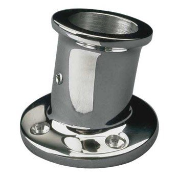Sea-Dog Stainless Flagpole Socket, (Stainless Flagpole Socket)