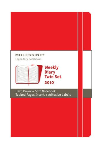 Moleskine Weekly Planner 2010 12 Month Red Twin Set (Moleskine Diaries) 2010 Moleskine Weekly