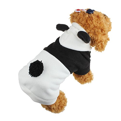 [Dog Clothes,Beautyvan Pet Puppy Clothes Cute Panda Warm Coat Apparel (S, Black White)] (Army Dog Costumes)