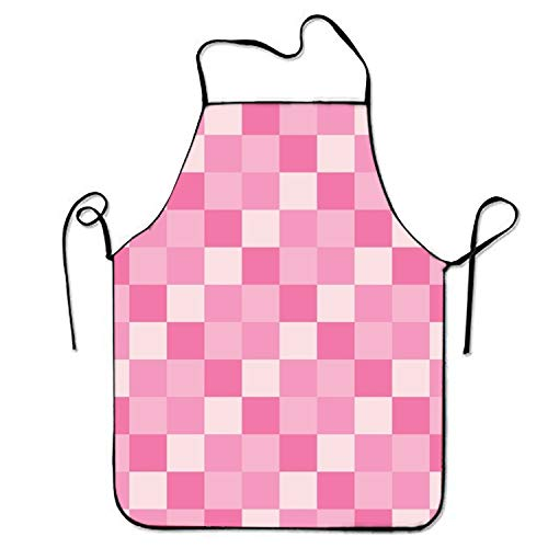 Apron Personalized Valentine (ssribeautyk FnLiu Personalized Pink Valentine Aprons Printed Apron for Cooking Gardening Kitchen)