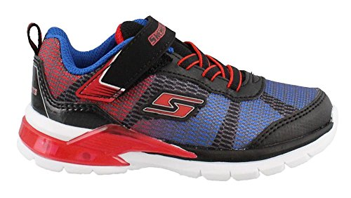 Skechers Boy's, S Lights Erupters II Lava Wave Light up Sneakers Blue Red 8 M (Waves Two Light)