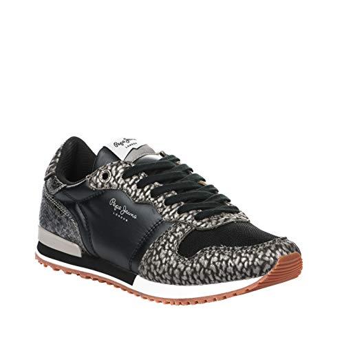 Mode Noir Ville Jeans Lady Gable Chaussures Pepe Black XqxHwpffv