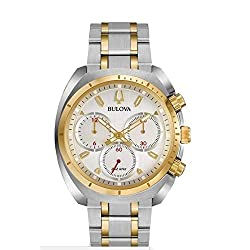 Bulova Men's Curv Watch Quartz Sapphire Crystal 98A156