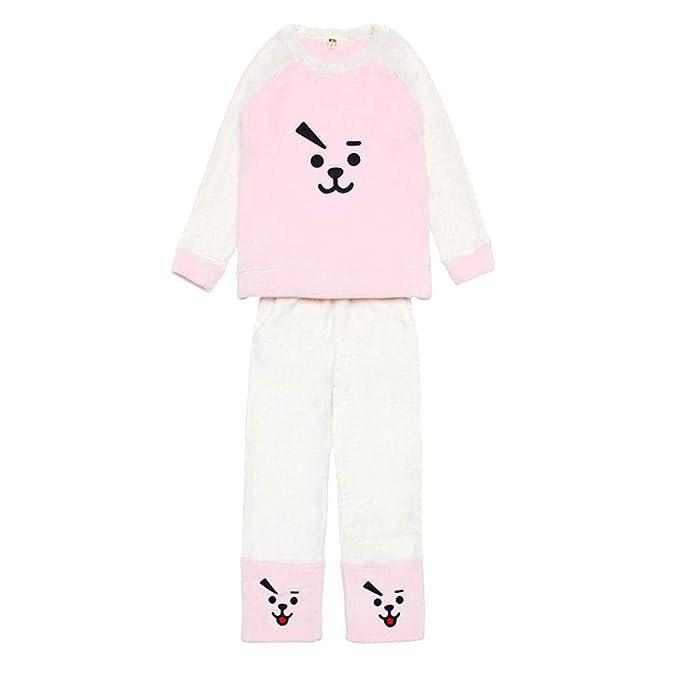 BTS Pijamas de Franela de otoño e Invierno Engrosamiento de Pijamas más  Suaves Pijamas Set de Manga Larga Set  Amazon.es  Ropa y accesorios 31d9dfc250b