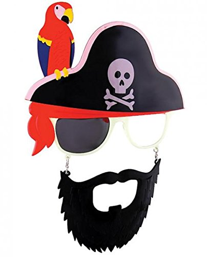 Cross Skull Parrot Pirate Beard Sunstaches (The Sun Costume)