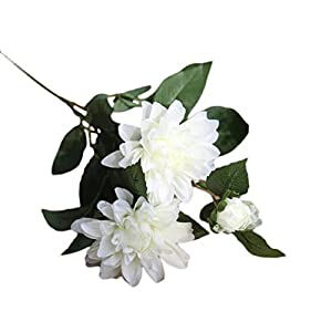 ChainSee Artificial Silk Dahlia Fake Flower Floral Home Wedding Bouquet Decor (H) 3