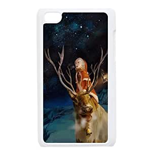 iPod Touch 4 Case White Merry Christmas With Rudolf LV7950227
