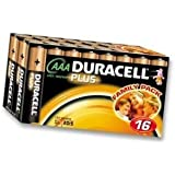 Duracell 75052869 Alkaline Plus AAA Battery - (Pack of 16)