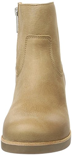 Brown Botas Amsterdam Stiefelette Light Shabbies Shabbies Mujer Reisverschluß Beige Mit zTA1q