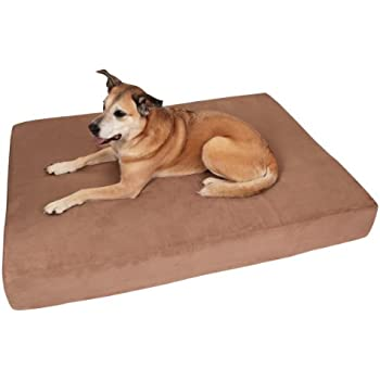 """Big Barker 7"""" Pillow Top Orthopedic Dog Bed - Large Size - 48 X 30 X 7 - Khaki - For Large and Extra Large Breed Dogs (Sleek Edition)"""