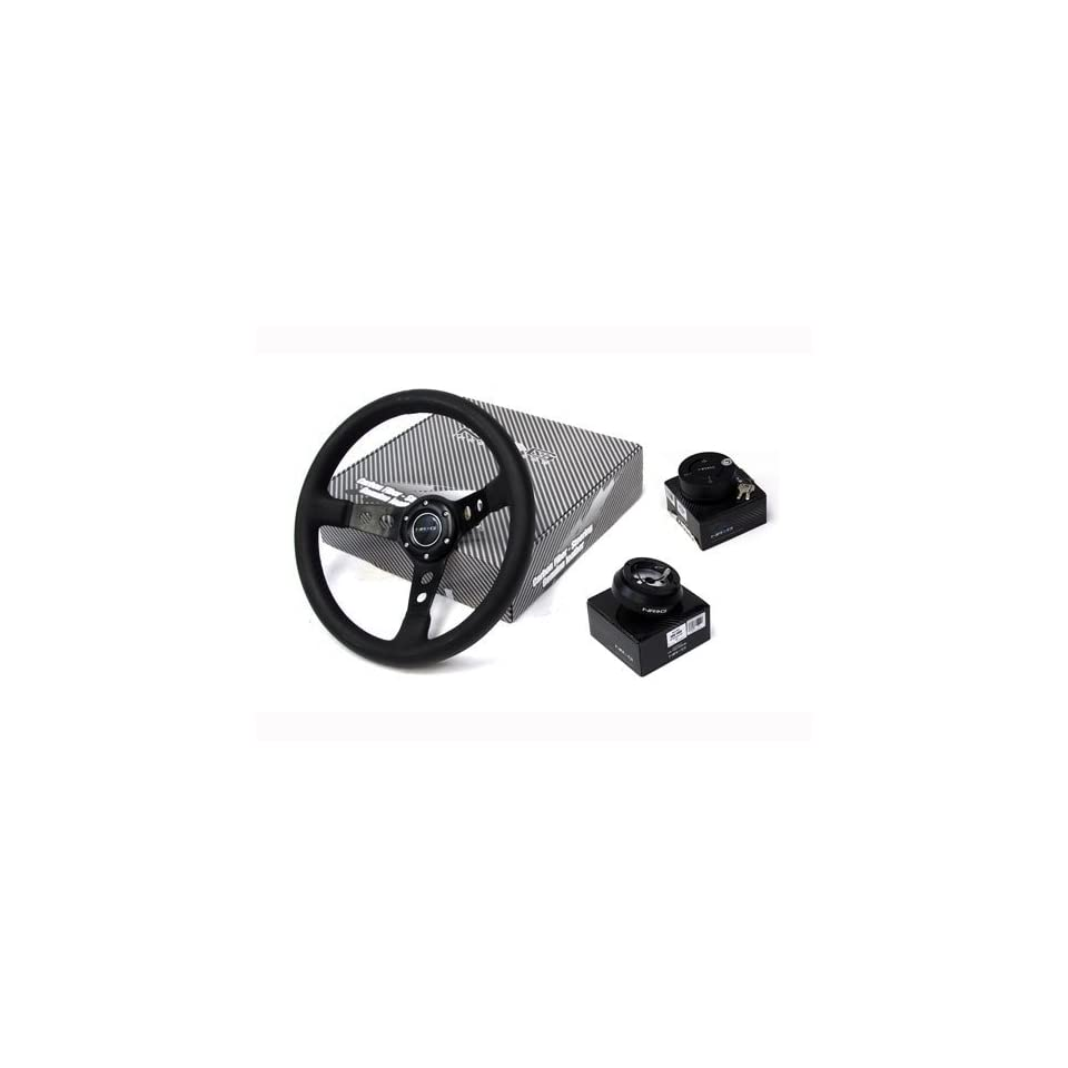 05 11 Porsche Boxster NRG 320MM Steering Wheel + Hub + Quick Release Combo Black
