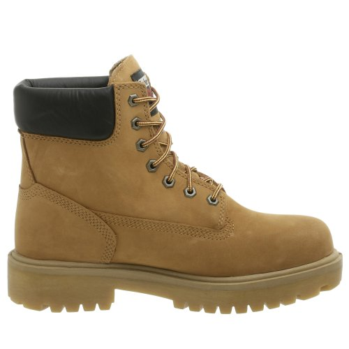 Image of the Timberland PRO Men's Direct Attach Six-Inch Soft-Toe Boot, Wheat Nubuck,10.5 W