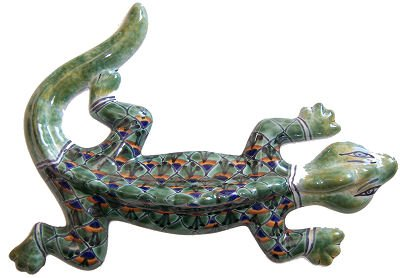 Green Peacock Garden Ceramic Lizard Review