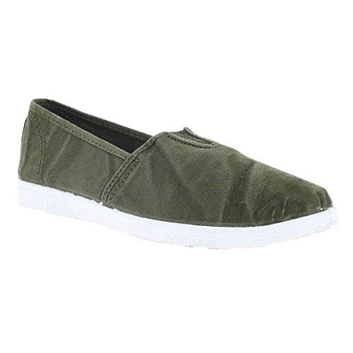 Green Mujer Zapatillas Natural Para World qw6PC
