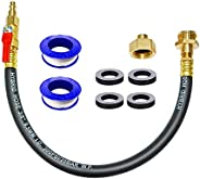 """HQMPC RV Winterizing Kit Sprinkler Blowout Adapter with 1/4"""" Plug Shut Off Valve 3/4"""" GHT Connect Ai"""