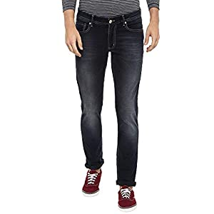 Numero Uno Mens 5 Pocket Whiskered Effect Jeans