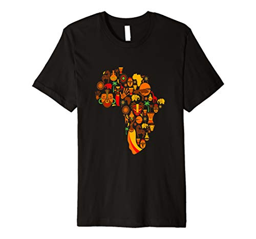 Africa Collage Shirt Black History African Tribe Mask Animal
