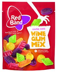Red Band Wine Gum Mix 8.9 Oz Bag (Pack of 5)