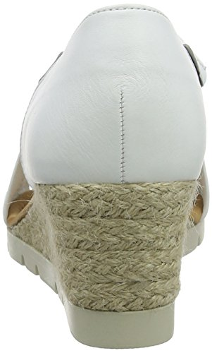 Weiss Jute Gabor Sandalia Sport Mujer Shoes con Blanco Comfort Pulsera para wqwWzvxfrg