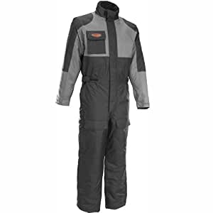 Firstgear Thermo One-Piece Suit - Black and Gunmetal (X-Large)