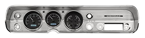 Dakota Digital 64 65 Chevy Chevelle El Camino Analog Dash Gauges Kit Black Alloy White VHX-64C-CVL-K-W (El Camino Dash)