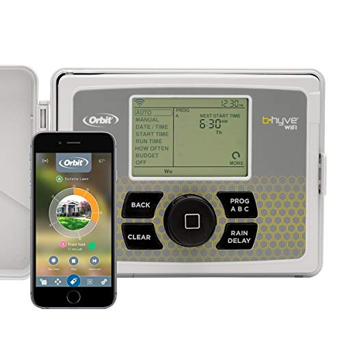 Orbit 57950 B-hyve Smart Indoor/Outdoor 12-Station WiFi Sprinkler System Controller, Compatible with Alexa (Renewed)