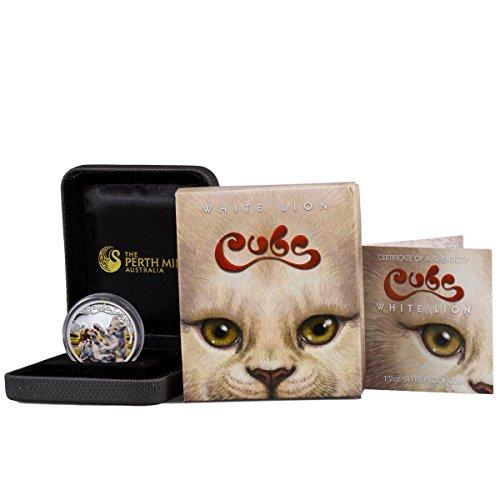 2021 TV Cubs Colorized Proof White Lion (Original Mint Packaging) 1/2 OZ Gem Uncirculated