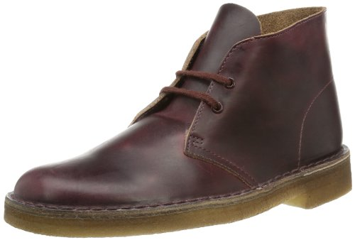 Clarks - Polacchine Desert Boot, Uomo Rosso (Rot (Burgundy Leather))