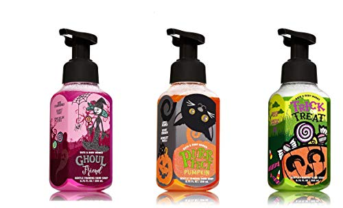 Halloween Soap - Bath and Body Works Halloween Foaming Hand Soap Trio -- Ghoul Friend + Purrfect Pumpkin + Trick or Treat
