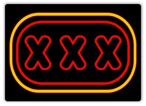(Faaca XXX Sex Sign Metal Wall Plaque Art Strip Porn Rude Vegas)