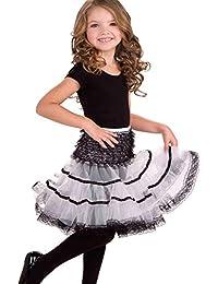 Forum Novelties White Black Child Size Crinoline Petticoat Tutu Skirt