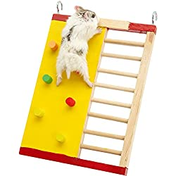 Wildgirl Pet Small Animal Hamster Multicolor Rock-climbing Crawling Ladder 2 in 1 Play Toy
