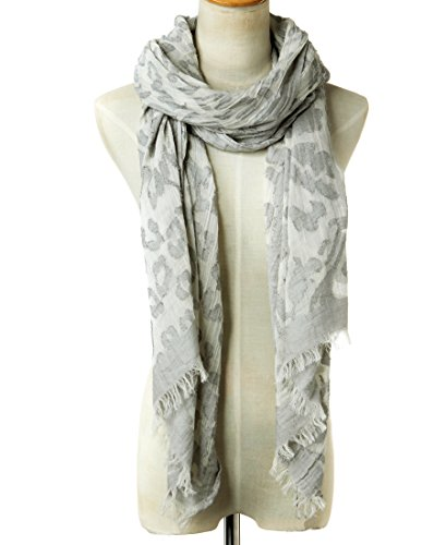 EUPHIE YING Women's Classy Cotton Scarves Fashion Shawl Wrap, Jacquard by EUPHIE YING (Image #2)