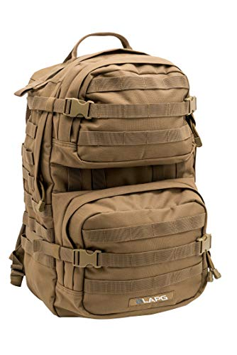 LA Police Gear 3 Day Tactical Backpack for Hunting, Military, Camping, Hiking, and Survival-Coyote