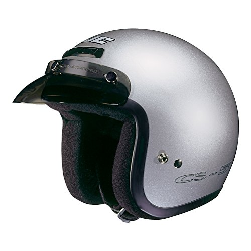 Silver Performance Street Helmet - HJC Helmets CS-5N Helmet (Silver, Medium)
