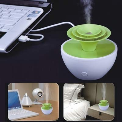 Perfect house Mini USB Pansy ultrasonic air Purification humidifier, ABS Material, Capacity: 90mL, Aroma diffusing Atomizer. Durable