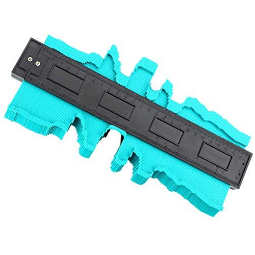 Jauge de Contour 250mm Plastique Copieur de Profil Jauge de Profilé pour Regle Architecte, Copieur de Contour pour Précision de Mesure de Carrelage, Outil de Marquage du Bois Stratifié (25 CM, Vert)