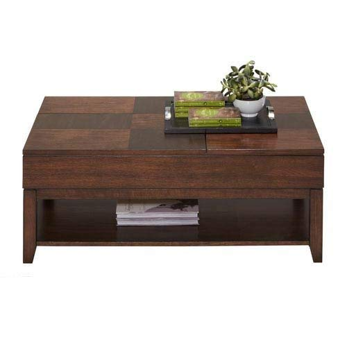 (Progressive Furniture P531-25 Daytona Double Lift Top Cocktail, Regal Walnut)