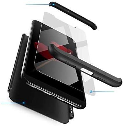 AKC Funda Compatible Samsung Galaxy S8 con 360°Todo Incluido Anti-Scratch, con 2 * HD Vidrio Templado Carcasa Case,Ultra Fina 3 en 1 Hard PC Caja Cover Resistente al Desgaste-Negro