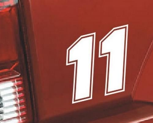 - Nascar Number 11 Racing Race Vinyl Graphic Car Truck Windows Decor Decal Sticker - Die cut vinyl decal for windows, cars, trucks, tool boxes, laptops, MacBook - virtually any hard, smooth surface