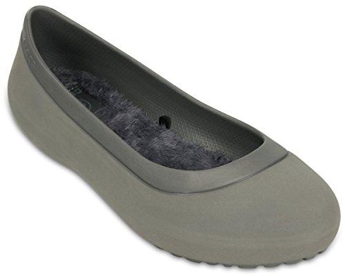 Crocs Womens Mammoth Flat Smoke/Smoke Ankle-High Rubber Flat Shoe - 7M