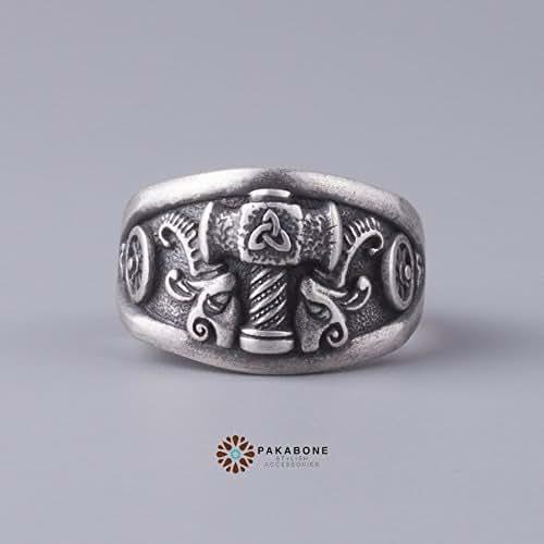 Amazon.com: Viking Ring Thor's Hammer Tanngrisnir