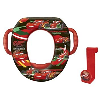 disney cars soft potty seat with hook handles