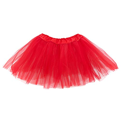 belababy Girl Skirts 3 Layers Organza Baby Tutu, 2-8, Red