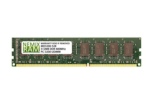 - 512MB DDR 400MHz PC3200 184-PIN Memory RAM DIMM for Desktop PC