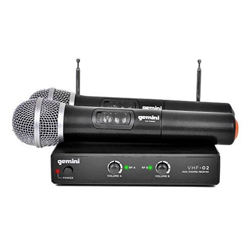 2Channel VHF Wireless Microphone System 186,6MHz/204.6–vhf02-m
