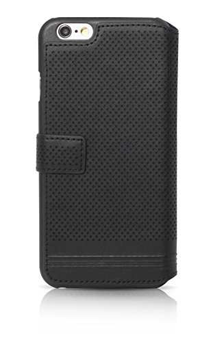 BMW BMFLBKP6MPEBIC Sammlung Buch Typ Linien Adrenaline Schutzhülle für Apple iPhone 6/6S (Größe: M) schwarz