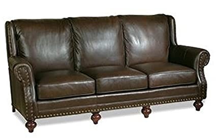 Amazon.com: EuroLux Home New Leather Sofa Hand-Crafted USA ...